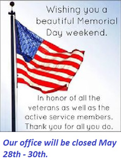 Have a safe holiday weekend!